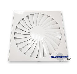 fixed blade swirl diffuser
