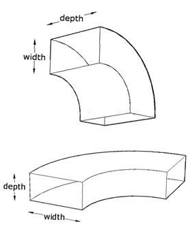 Long Radius Bends Rectangular Ductwork Ventilation Ducting