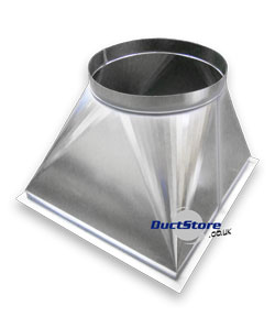 Stainless Steel Square To Round Stainless Ductwork