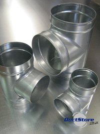 Ductstore Spiral Amp Fittings Buy 90 Deg Ducting T
