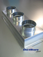 Three Spigot Plenum Boxes Grille Boxes Duct Supplies