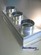 Three Spigot Plenum Boxes Grille Boxes Duct Supplies