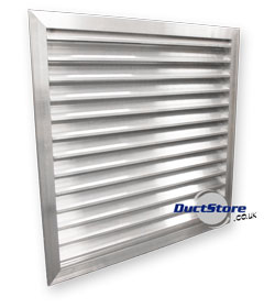 Louvres 38mm Blade Pitch Aluminium Ventilation Louvres Ducting Supplies